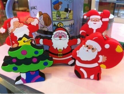 Christmas gift100% real capacity cartoon father christmas Gift tree snowmanUSB 2.0 Flash Memory Pen Drive Stick1GB 8GB16GB S166