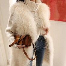 Women's Winter Faux Fox Fur Long Vest Coat Fluffy Sleeveless Soft Hairy Overcoats 2018 Fashion Elegant Female Waistcoat