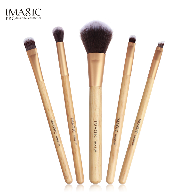 IMAGIC New Womens Fashion Brushes 5PC Wooden Cosmetics  Eyeshadow Brush Makeup Brush Sets Beauty  ToolsIMAGIC New Womens Fashion Brushes 5PC Wooden Cosmetics  Eyeshadow Brush Makeup Brush Sets Beauty  Tools