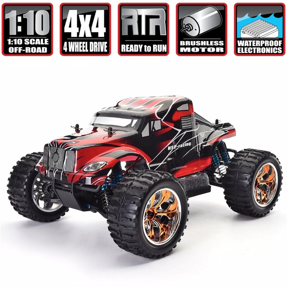 Sammeln & Seltenes Hsp Rc Auto 1/10 Skala 4wd Off Road Monster Truck 94111pro Elektrische Leistung Bürstenlosen Motor Lipo Batterie Hohe Geschwindigkeit Hobby Fahrzeug Fernbedienung Spielzeug
