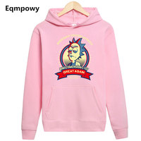 New Arrive Rick And Morty Geek Hoodie Men Women Tee Anime Funny Hoody Cool Rick Morty