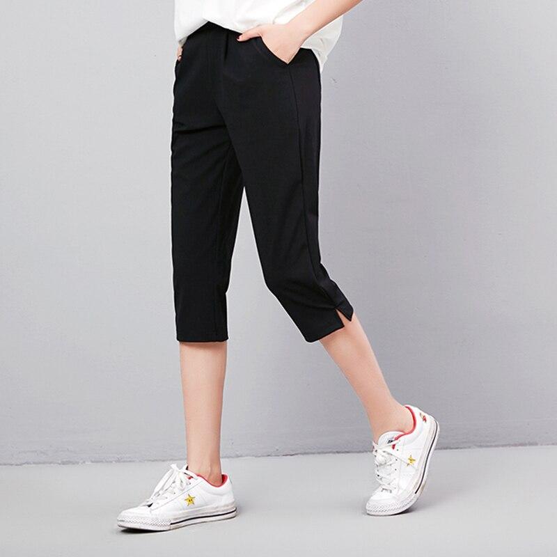 Hot Sale 2019 Summer   Capris     Pants   For Woman Elastic Waist Plus Size S-4XL Harem   Pants   Women's Casual Calf-Length   Pants
