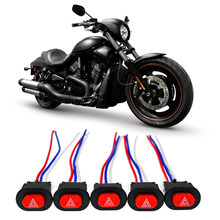 Motorcycle Electric Vehicle Modified Double Flash Warning Double Jump Switch 3 Wires Motorcycle Accessories Handlebar Switch(China)