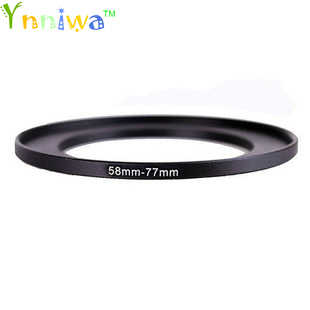 58-77mm Metal adım halkaları lens adaptörü filtre seti