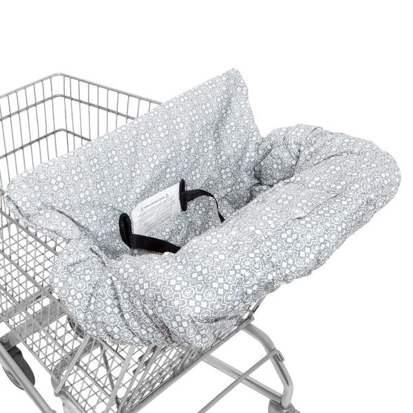 Водонепроницаемый 2 в 1 детская корзина Обложка& высокое чехлы на стулья с ремнями безопасности для младенцев и детей ясельного возраста(унисекс серый - Цвет: Waterproof