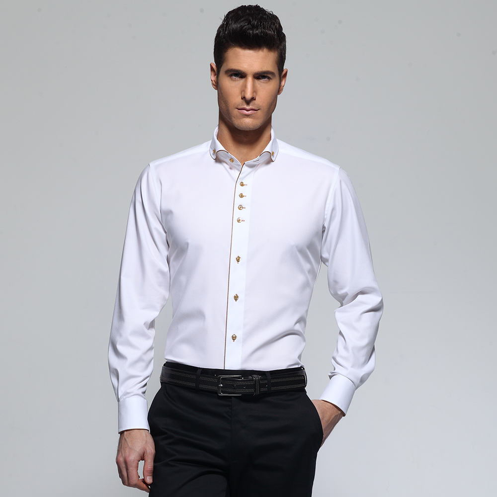 Popular Mens White Dress Shirts French Cuff-Buy Cheap Mens White ...