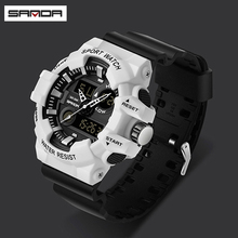 SANDA Watches Men Reloj Military Army Wristwatch Mens Watch Led Digital Sports Male Gift Automatic Relojes Hombre