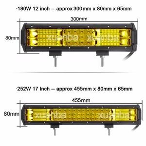 "Image 2 - Barra de luces Led de Triple fila, 12 "", 20"", 23 "", 288W, 12V, 24V, camioneta, barco, camión, Atv, Suv, Marine, 4WD, 4x4, lámpara de Offroad Combo"