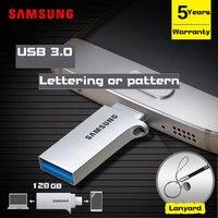 삼성 USB 플래시 드라이브 128 기가바이트 pendirve 금속 사용자 개인 recuerdos 플래시 메모리 스틱 마이크로 usb 안드로이드 전화