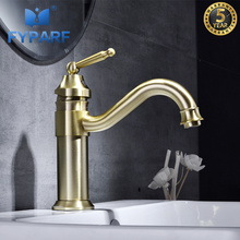 FYPARF Single Handle Bathroom Faucet Basin Sink Faucet Mixer Tap Brass Taps Bathroom Hot and Cold Water Washing Basin Faucet deck mounted luxury bathroom sink basin water taps single lever washing basin mixer faucet with hot and cold water drain