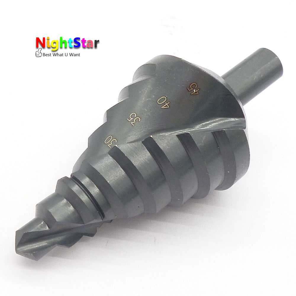 12mm 8 Steps 10-45mm HSS Step Drill Bit Steel Metal Hole Drilling Reamer Shank free shipping of 1pc hss 6542 made cnc full grinded hss taper shank twist drill bit 11 175mm for steel