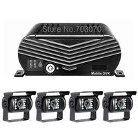 2 ТБ жесткий диск 256 г SD 4CH 1080 AHD автобус видео Регистраторы мобильный видеорегистратор с 4 шт. заднего вида парковка HD AHD Камера Наборы ввода/вы