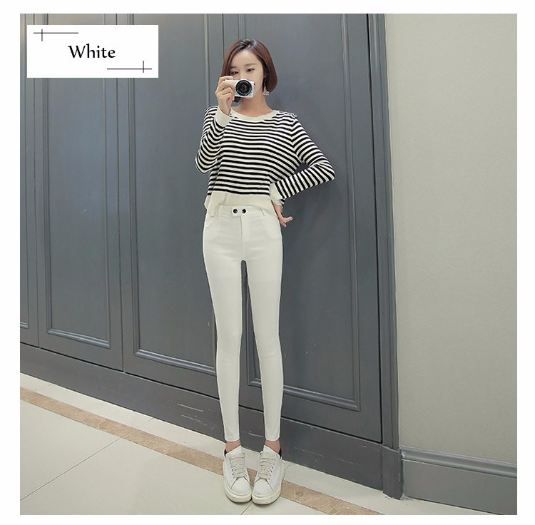 7 Colors Plus Size Pants Full Length Women Spring Autumn Pencil Pants Causal Slim High Waist Legging Stretch Trousers 2016 A663  h