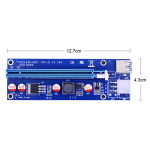 Image 2 - CHIPAL 10PCS VER009S PCI E Riser Card PCIE 1X to 16X Extender with LED Indicator + 0.6M USB 3.0 Cable / 6Pin Power Cord