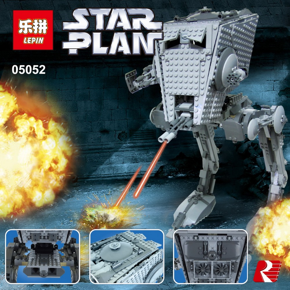 ФОТО Building Blocks 1068Pcs Star Wars The Force Awakens AT-ST Walke Model Toys For Children Compatible With 75153 LEPIN 05052