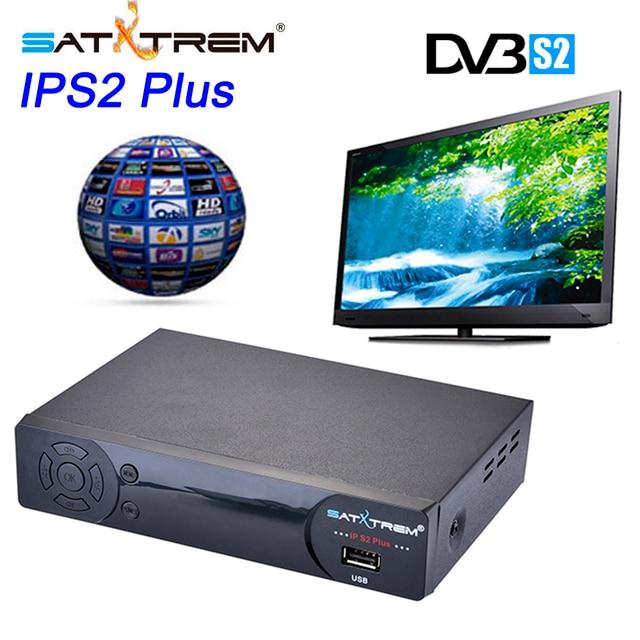 SATXTREM IPS2 Plus Full HD DVB-S2 Satellite Receiver TV Tuner Free Channels Satellite Decoder Receptor support cccam youtube