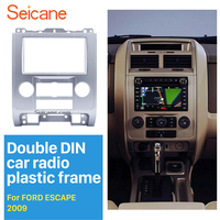 Seicane Silver 2Din Car DVD Radio Fascia Frame Panel for 2007 2008 2009 2010 2011 2012 Ford Escape MAZDA Tribute MERCURY Mariner