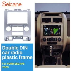 Image 1 - Seicane Silver 2Din 자동차 DVD 라디오 Fascia 프레임 패널 2007 2008 2009 2010 2011 2012 Ford Escape MAZDA Tribute MERCURY Mariner