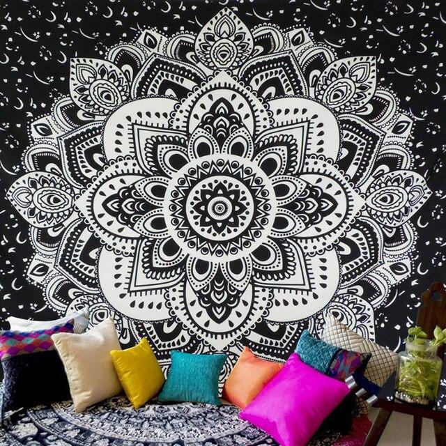 Tapisserie décorative murale en motif Floral | Tapis Chic, Mandala bohème, Style tribu, livraison américaine