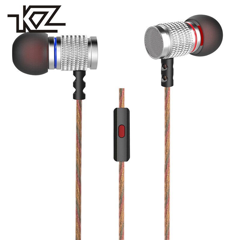 KZ Hifi Wired In-ear Buds Earphone For Phone iPhone In Ear Headphone With Microphone Headset Earbuds Kulakl K Headfone Auricular kz ates ate atr hd9 copper driver hifi sport headphones in ear earphone for running with microphone game headset