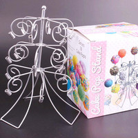 WOFO 3 Tier Child Party Chocolate Candy Stand Display Lollipop Stand Party Decoration Metal Material 18