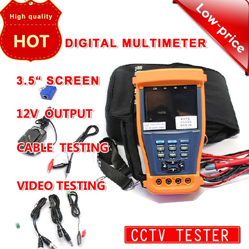 CCTV  tester monitor digital multimeter PTZ control 12V output  cable tester video testing 3.5