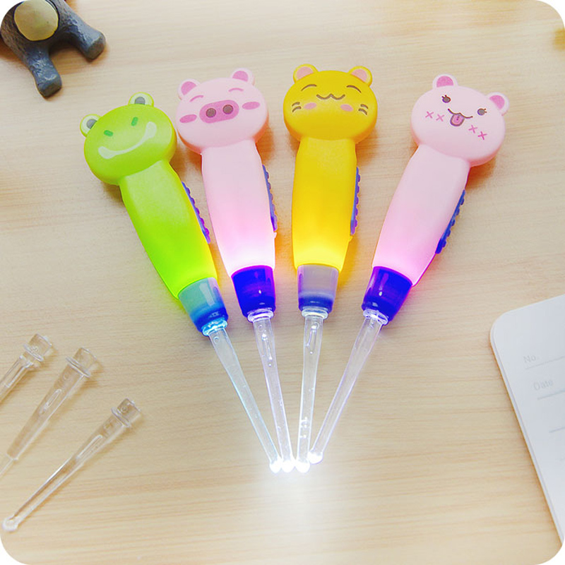 Baby Ear Syringe Ear Cleaner Earwax Spoon Clean LED Light Flashlight Earpick,Cleaner Tool Curette