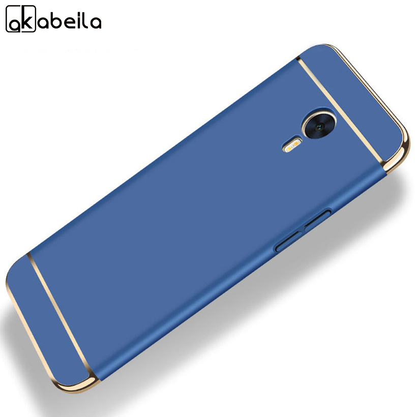 AKABEILA Plating Plastic Case For Meizu M2 Note Case Back Cover Coque for M571H Meilan Note Plus Meilan Note 2 Anti-Knock Etui