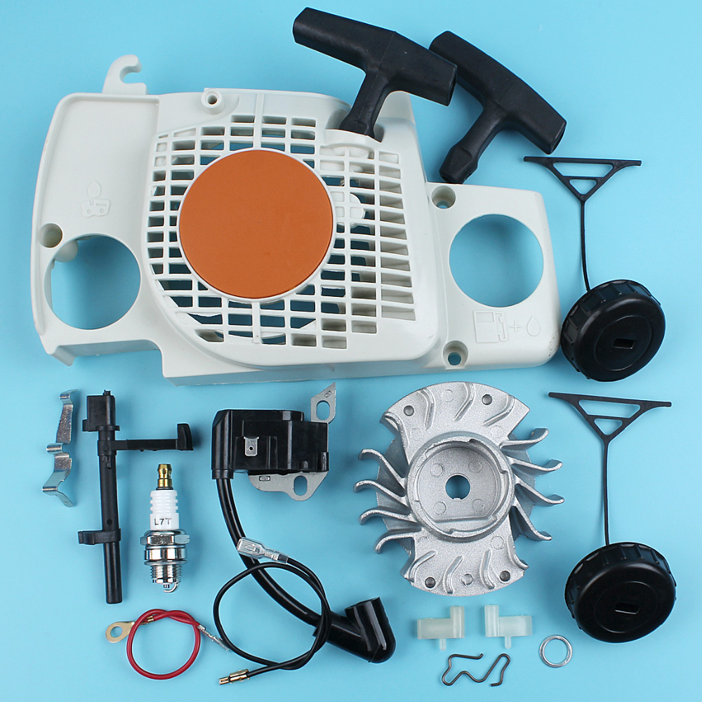 Recoil Starter Ignition Coil Flywheel Pawl Kit For Stihl 017 018 MS170 MS180 Chainsaw Tank Caps Switch Shaft Contacting Spring chainsaw starter handle grip pawl set with spring washer fit stihl 017 018 021 023 025 ms180 ms250 parts