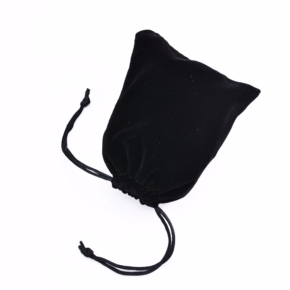 10Pcs/set Black Color 9*13cm Pouches Velvet Bags For Jewelry/MP3/Coin Packing Bags Candy/Wedding Gift Bags