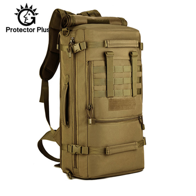 50L Men Military Backpack Camouflage Laptop Backpack Molle Mountaineering Knapsack Hiking Climbing Backpacks Travel Bags XA42D