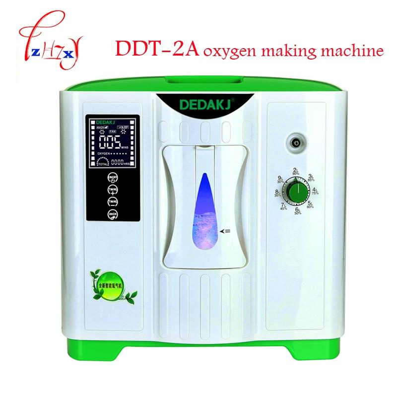 2L-9L Médica concentrador de oxigênio gerador de oxigênio que faz a máquina uso doméstico máquina geradora de oxigênio com a versão Inglês DDT-2A