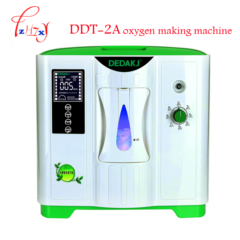 2L-9L Medical oxygen concentrator generator oxygen making machine home use oxygen generating machine with English version DDT-2A medical oxygen concentrator for respiratory diseases 110v 220v oxygen generator copd oxygen supplying machine