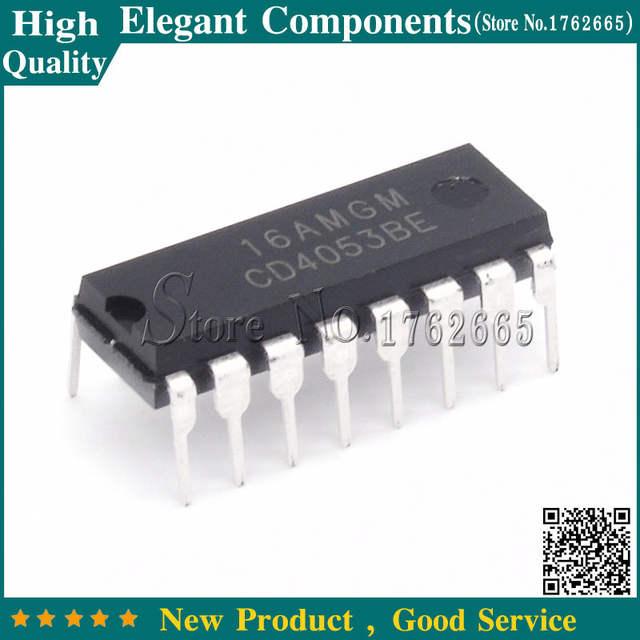 10PCS CD4053BE DIP CD4053 DIP16 NEW 4053 Analog Multiplexer IC NEW