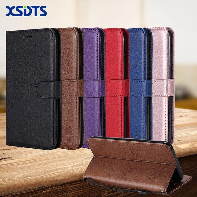 XSDTS Luxury Leather Wallet Trường Hợp Đối Với Huawei Y5 Y6 Thủ Y7 2018 Y9 2019 Thẻ Đứng Lật Trường Hợp Điện Thoại Bìa coque