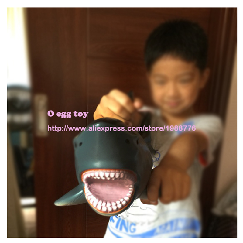 Toy shark Large size 53cm jaws toy shark Whale figures Black Leopard Toy Ferocious Soft Cotton Beast Animal Model Mosasaurus mr froger carcharodon megalodon model giant tooth shark sphyrna aquatic creatures wild animals zoo modeling plastic sea lift toy