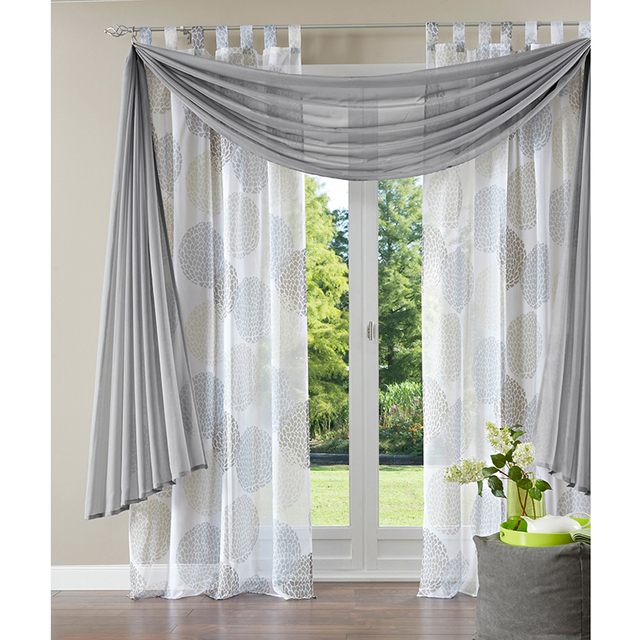 Terri Tulle Pelmet Fabrics DIY Valance Curtains For Living Room Kitchen Drapes Window Treatments