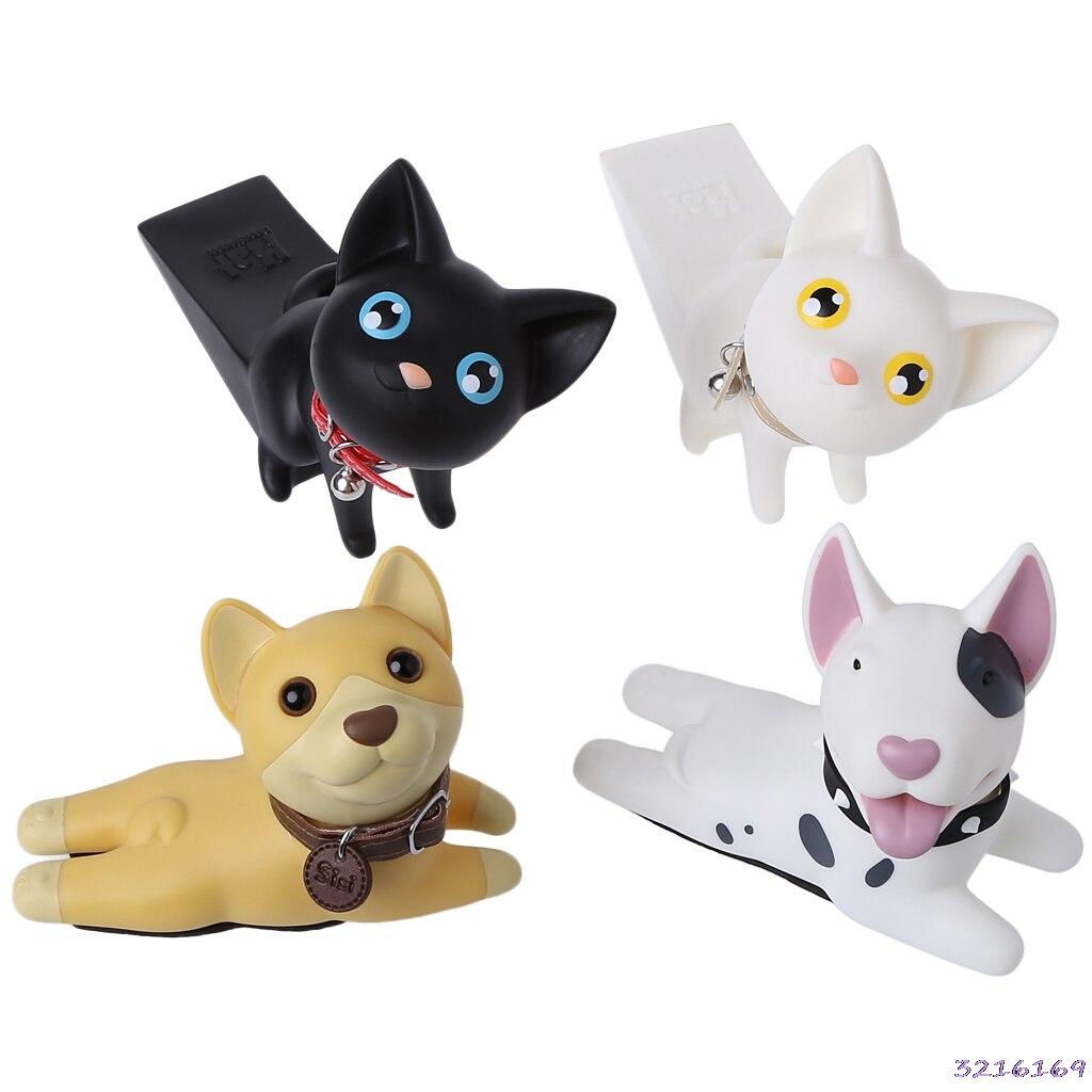 Cute Cartoon Animal Door Stoppers Bulldog Cat Shape Children Safety Accessories цена
