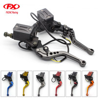 7/8 22MM Universal Adjustable Motorcycle Hydraulic Clutch Brake Levers Master Cylinder Set For Kawasaki 50CC 300CC Motorcycle