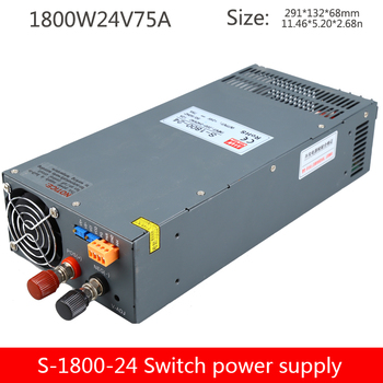 LED high power DC voltage regulator switching power supply S-1800-24 industrial control monitoring 1800W transformer 24V75A