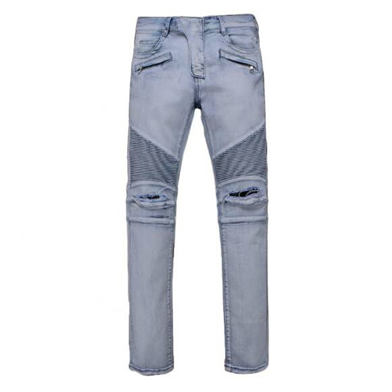 Free Shipping 2017 Mens Jeans White Masculina Casual Denim Distressed Slim Jeans Pants Brand  Jeans Rock Ripped Jeans Homme hip hop men jeans masculina casual denim distressed mens slim fit jeans pants brand biker jeans straight rock ripped jeans homme