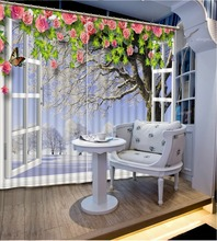 fashion 3d curtains window curtain living room extend 3d stereoscopic model home curtains curtains living room window snow curtains Luxury Blackout 3D Window Curtain For Living Room Beautiful Photo Fashion Customized 3D Curtains window curtains