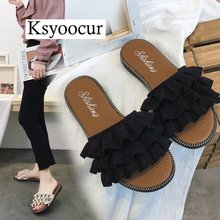 Brand Ksyoocur 2019 New Ladies Slippers Shoes Casual Women Comfortable Spring/autumn/summer 18-014