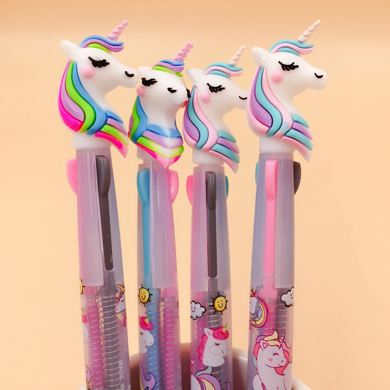 13 pcs or 36pcs/Lot Color Unicorn Gel Pens 0.5mm Roller Ball Black Ink Pen Writing gift