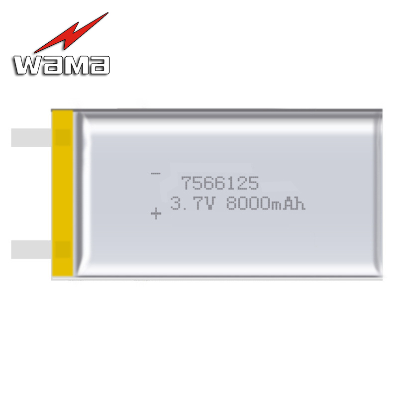 2x Wama 7566125 7566121 Real 8000mAh Li-ion Lithium Polymer 3.7V Rechargeable Batteries for Backup Power Bank Digital Products