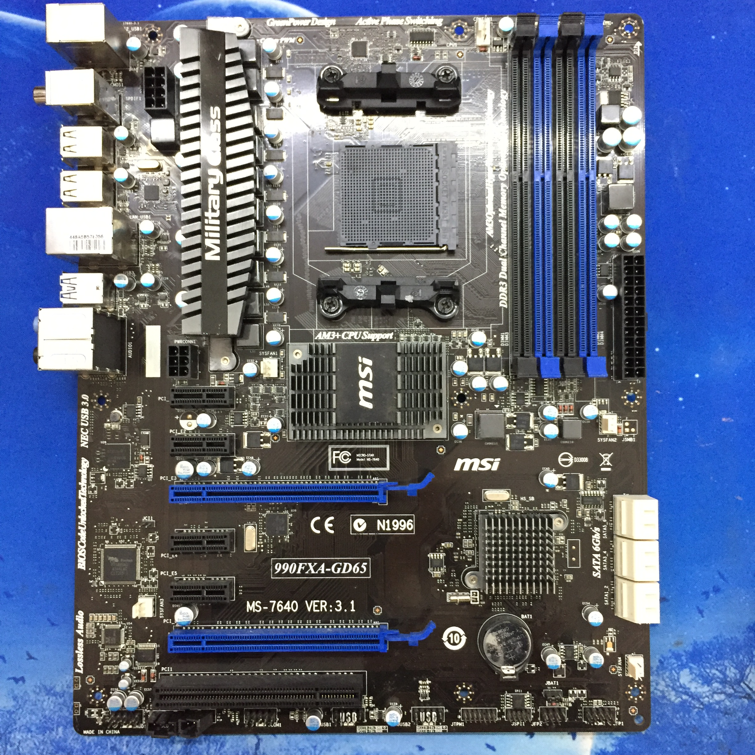 MSI 990FXA-GD65 supports open nuclear overclocking FX6300 8350 9590 6 card mining