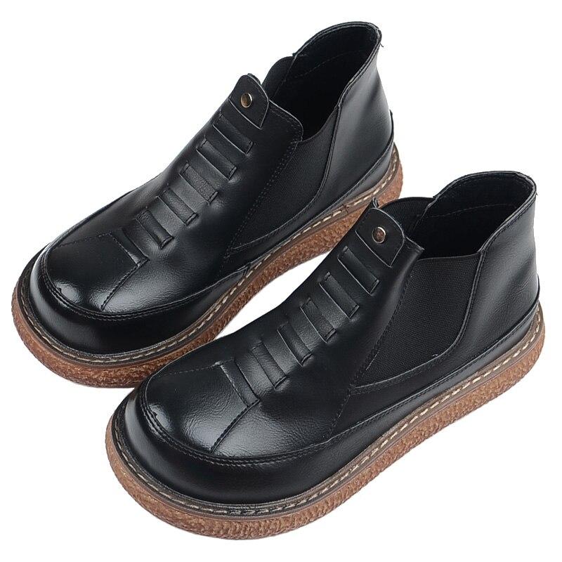 European American Style Rétro Femmes Bottes Mode Sauvage à semelles épaisses Chaussons Japonais Grosse Tête Poupée Chaussures Nu Bottes Femmes bottes