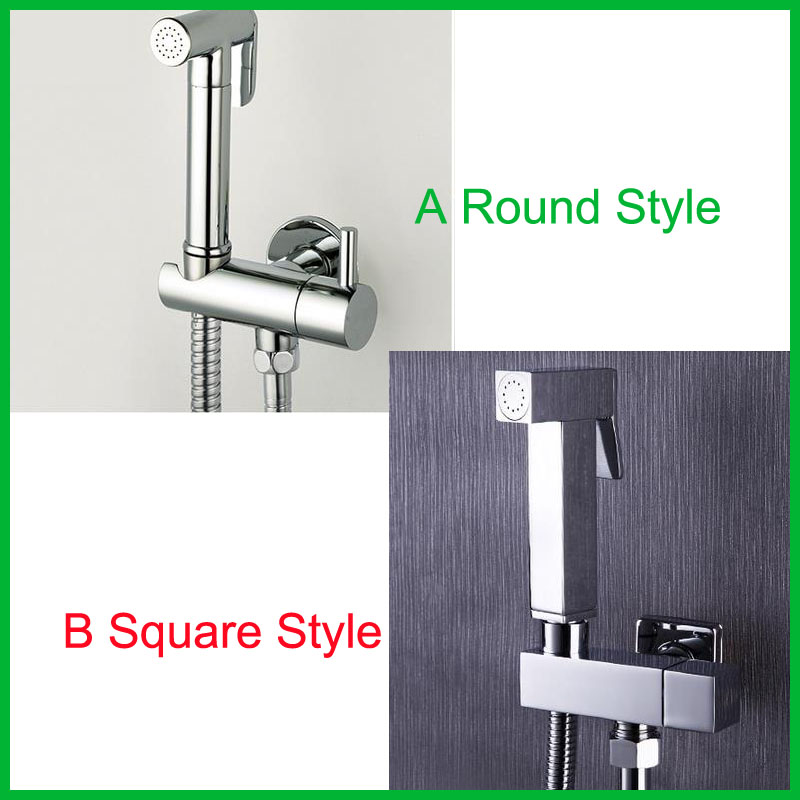 Square And Round Style For Choose Brass Chrome Bidet Mixer