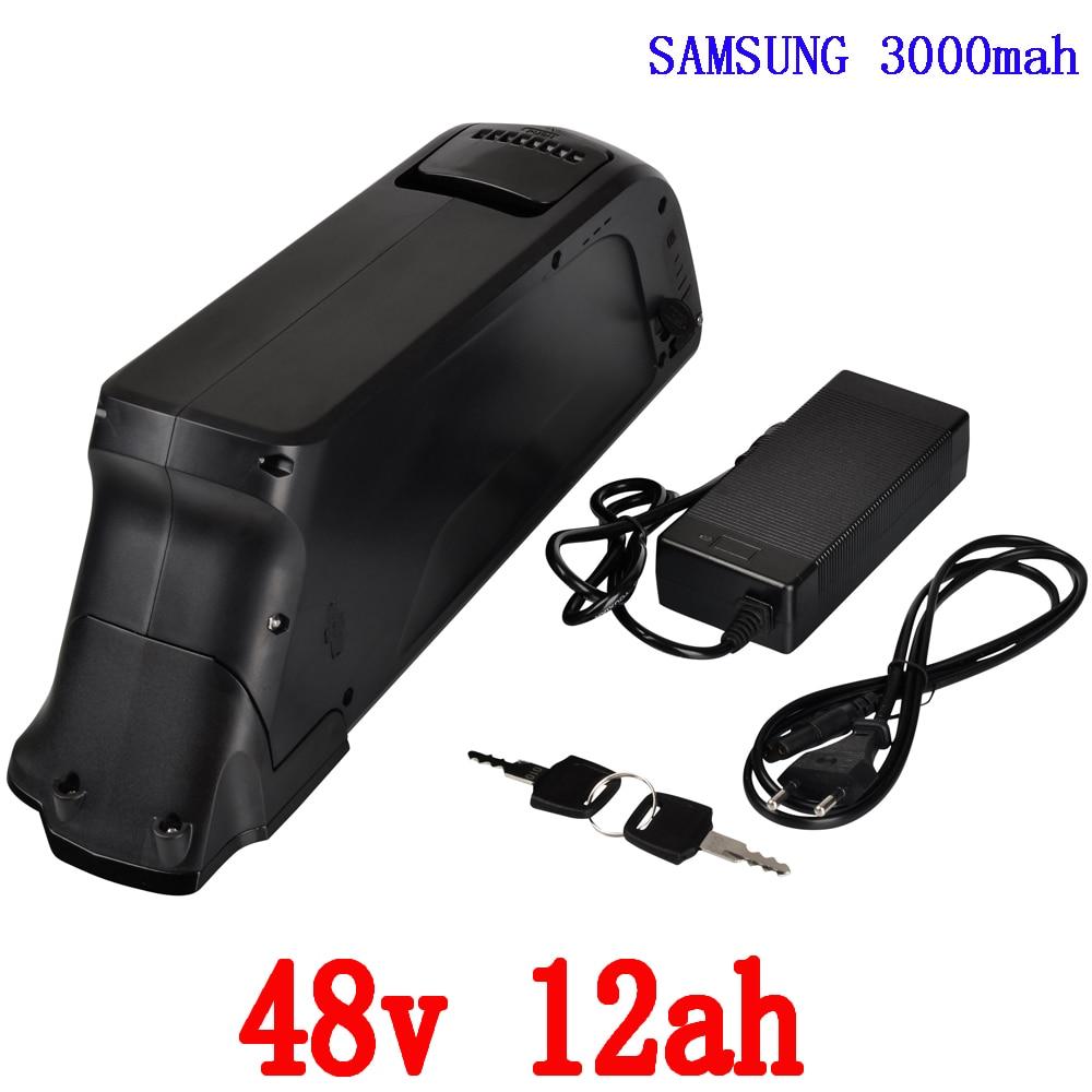 48v 12ah batería de iones de litio 48v 12ah batería de bicicleta eléctrica con puerto USB y cargador 54.6V 2A para motor 48V 500W 750W