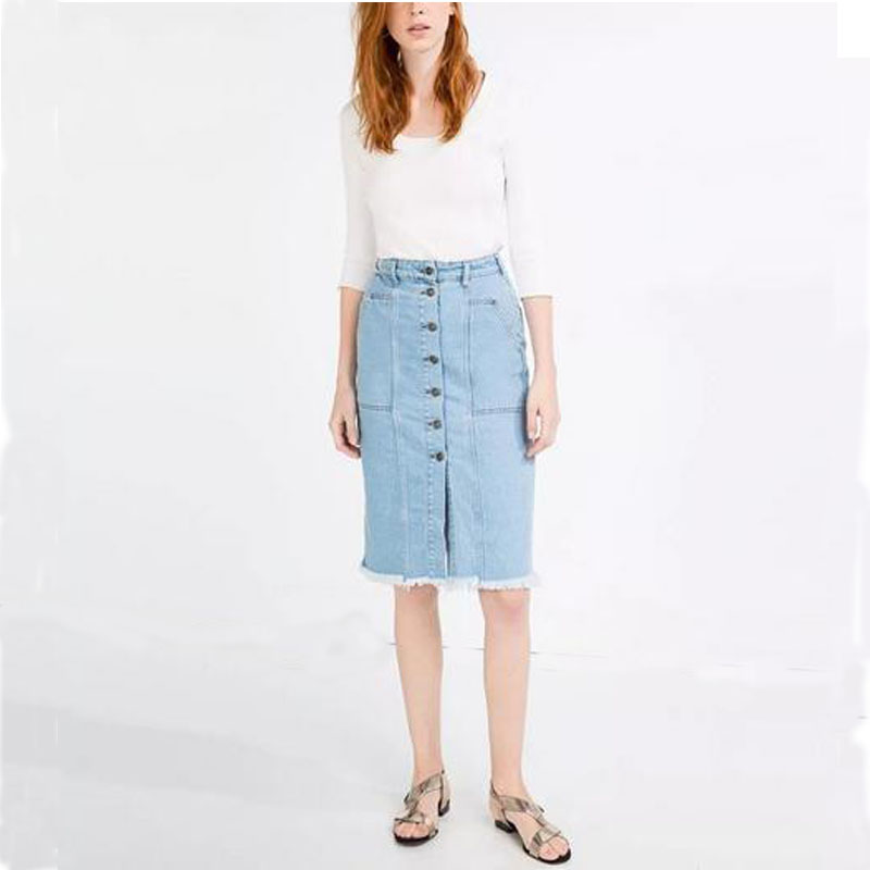 Online Get Cheap Jean Knee Length Skirts -Aliexpress.com | Alibaba ...